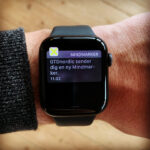 "Apple watch med notifikation som säger ""GTDnordic sender dig en ny Mindmarker"""