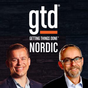 Podcast graphics for the GTDnordic podcast